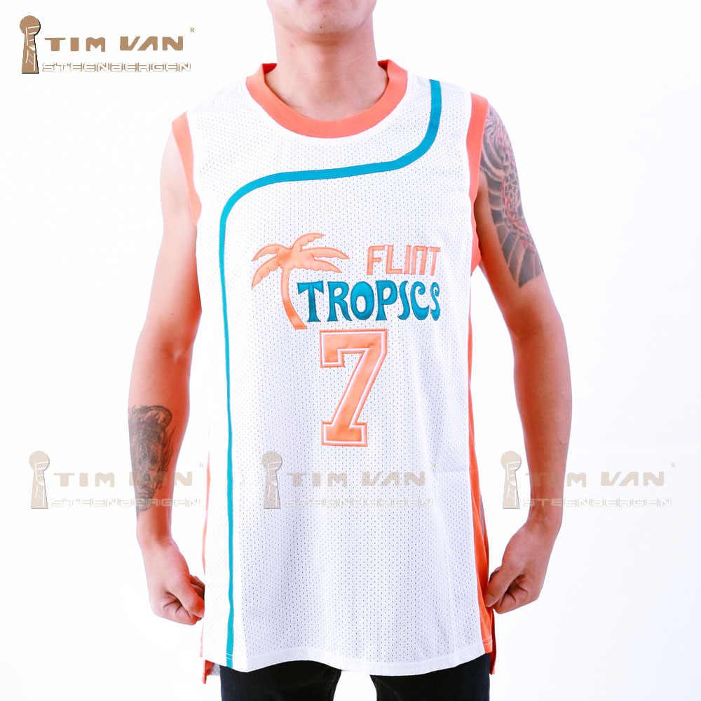 6fd044238c26 TIM VAN STEENBERGEB Coffee Black 7 Flint Basketball jersey Stitched Sewn -White