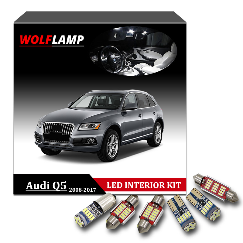 Wolflamp 19pcs White Ice Blue Canbus Led Interior Car Lights For 2008 2017 Audi Q5 Map Light Door Lamp Glove Box Plate Bulb In Signal From Automobiles