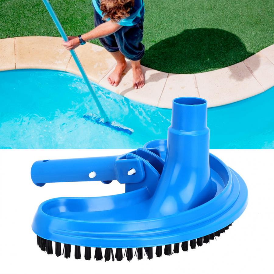Summer Pool Vacuum Cleaner Head Half Moon Flexible Swimming Pool Curved Suction Head Hot Cleaning Accessories