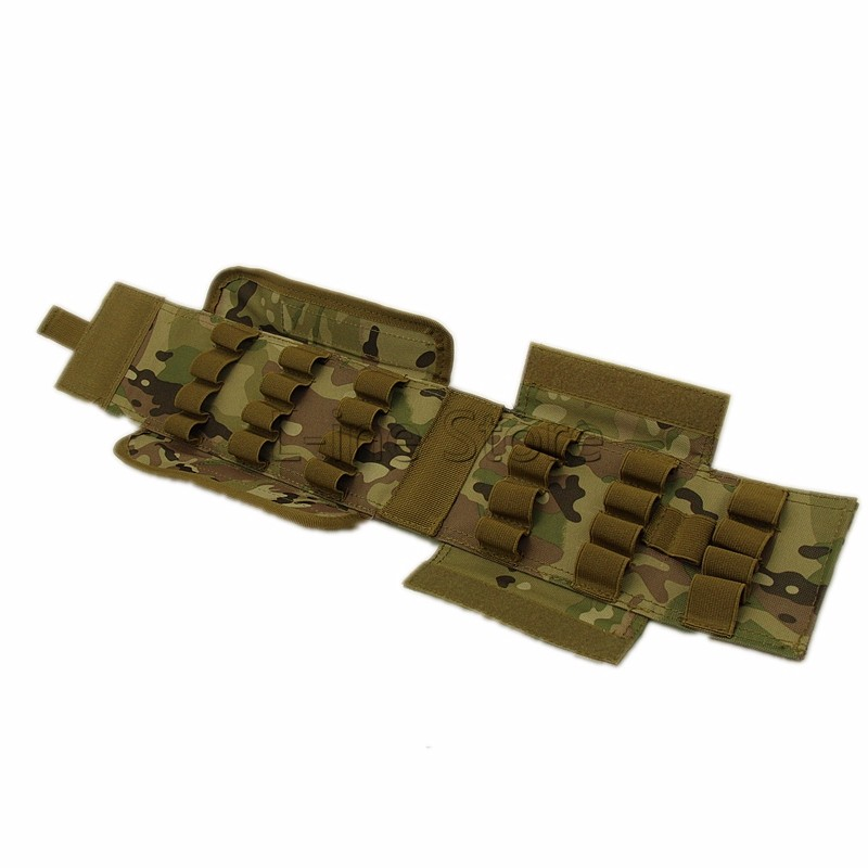 5 Color New Hunting Tactical Magzine Pouch Airsoft Molle 5 Round 12 Gauge Shells Shotgun Reload Mag Pouch