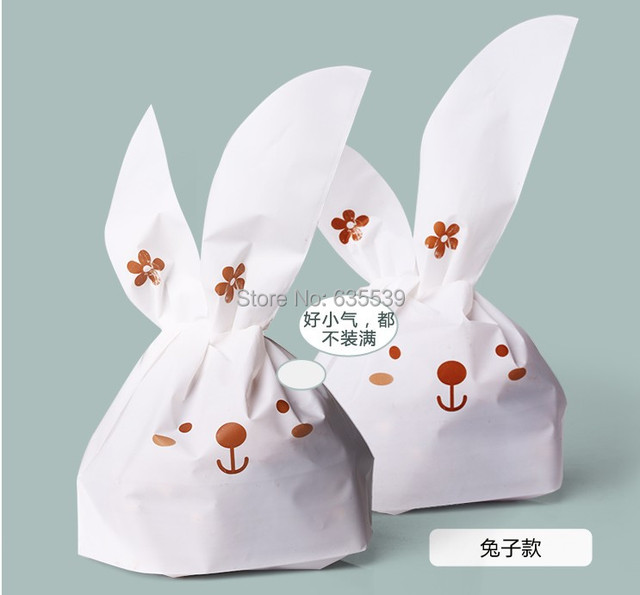fc9e9f9f7 Food grade plastic bolsas de papel paquete orejas de conejo merienda bolsas  galletas galletas caja de