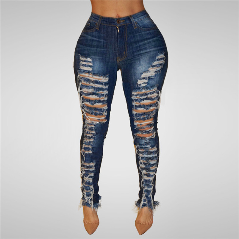 Plus Size Jeans Woman 2018 New Sexy Stretch Denim Pants Skinny Pencil Pants Trousers Jeans Dropshipping #FO04 (3)