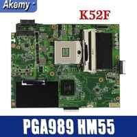 Amazoon K52F Laptop motherboard for ASUS K52F X52N A52F K52 Test original mainboard PGA989 HM55