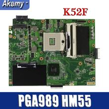 Amazoon K52F материнская плата для ноутбука ASUS K52F X52N A52F K52 Тесты оригинальная материнская плата PGA989 HM55