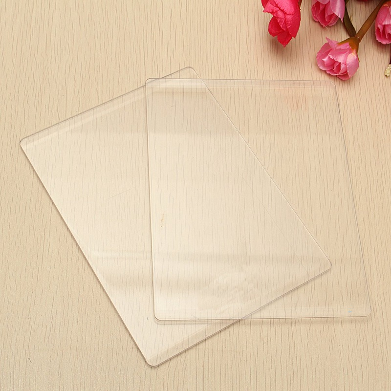 New 1Pc Clear Acrylic Cutting Mat Plate For DIY Embossing Cutting Dies Platform Adapter Transparent Die Cutter Spacer 3mm cutting mat