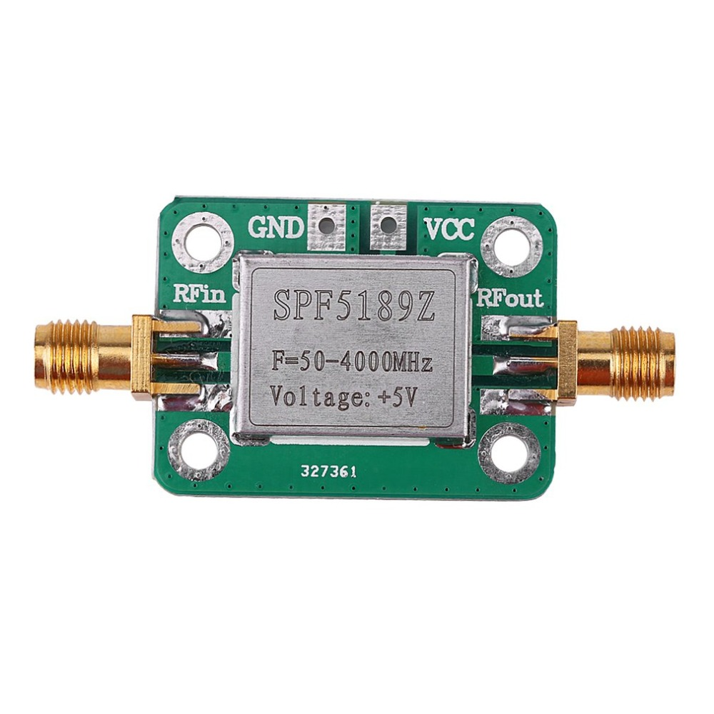 High Quality LNA 50-4000 MHz RF Low Noise Amplifier Signal Receiver SPF5189 NF = 0.6dB Inm