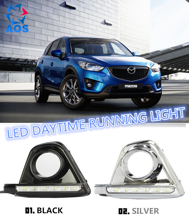 2PCs/set Auto LED DRL Daylight lamp Car Daytime Running lights set For MAZDA CX-5 CX5 CX 5 2012 2013 2014 2015