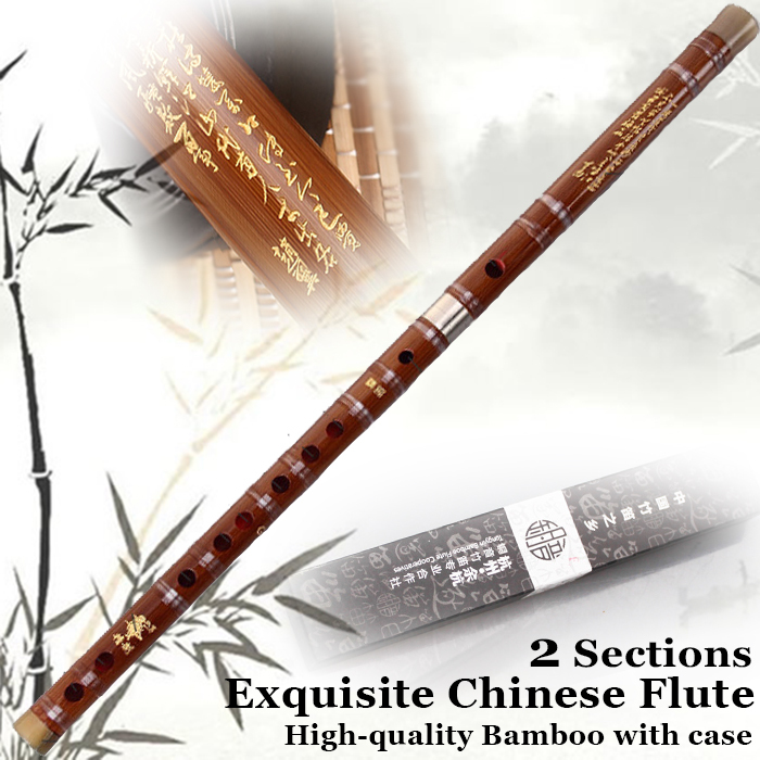 Chinese Bamboo Flute Dizi Traditional Musical Instrument Professional Flauta Key C/D/E/F/G Case,Dimo,Chinese Knot,Glue As Gift купить