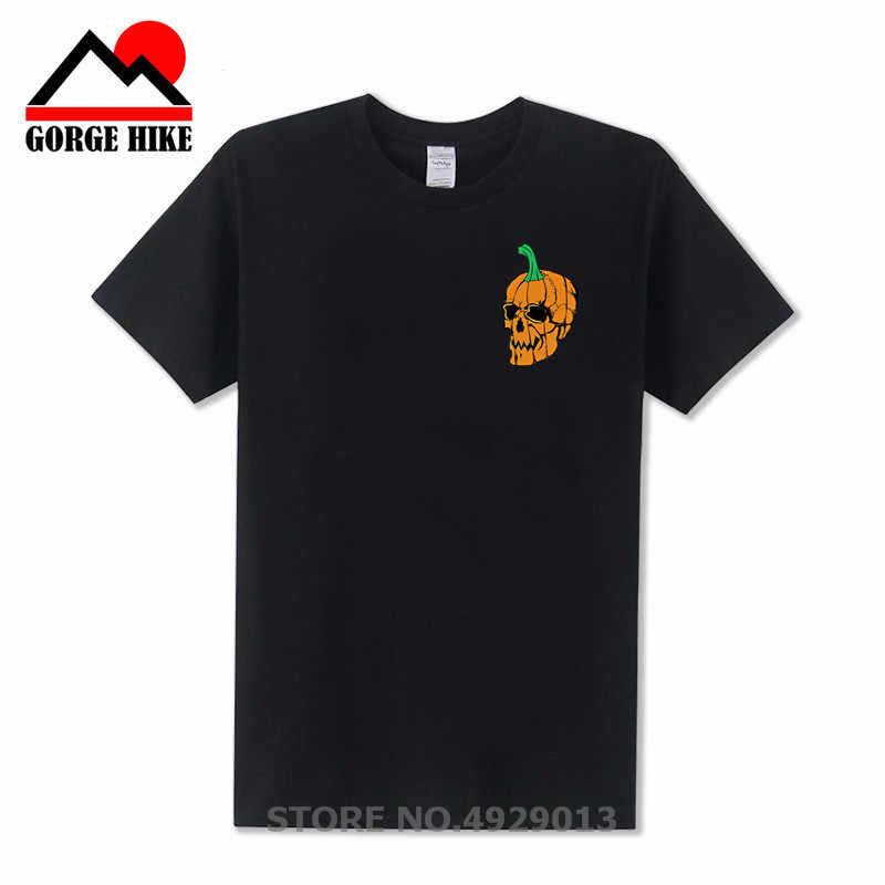 หัวกะโหลกศีรษะเสื้อยืดผู้ชายของขวัญฮาโลวีน 3d Tshirt ฟักทองพิมพ์ Tshirt Ghost Cosplay ตลก T เสื้อ Punk Rock Mens เสื้อผ้า