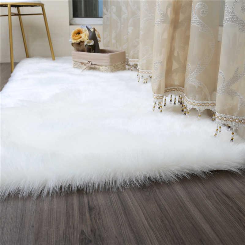 Living Room Bedroom Carpet Sofa Antiskid Soft Pure White Silk Wool Carpet Faux Wool Luxury Tapis Modern Carpet Decorative Rug Carpet Aliexpress