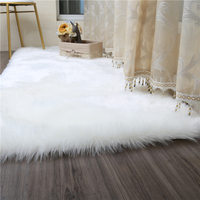 Living room/bedroom carpet Sofa Antiskid soft Pure White silk wool carpet faux wool luxury tapis modern carpet decorative rug