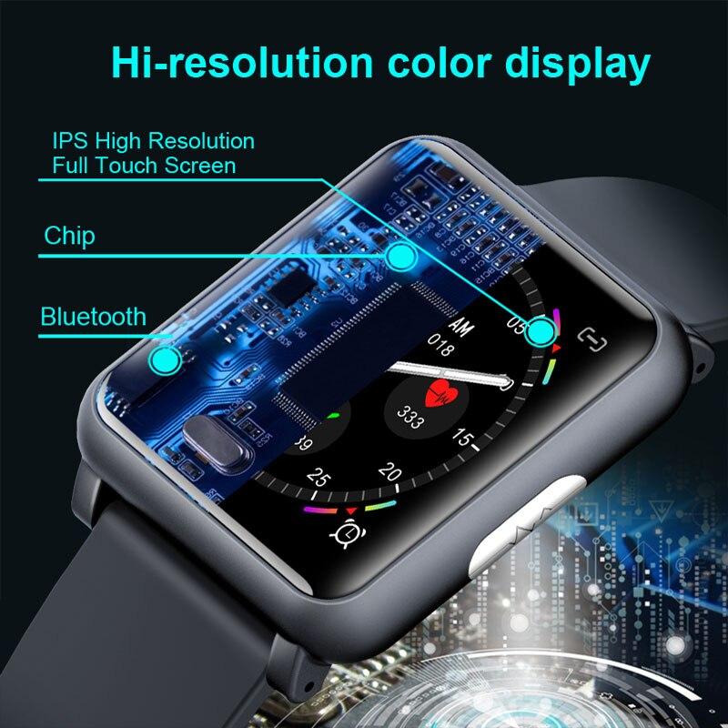 2019 nuevo Monitor de ritmo cardíaco reloj inteligente ECG PPG Plaza Smartwatch H9 de atención de la salud índice impermeable de la presión de la sangre de los hombres