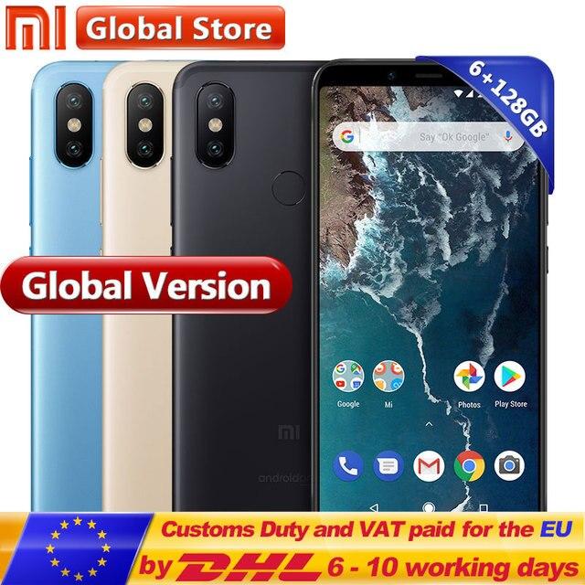 "Global Version Xiaomi Mi A2 6GB 128GB Smartphone Dual 20MP Camera Snapdragon 660 Octa Core 5.99"" Full Screen Display"