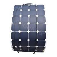 Panel solar eficiente ETFE flexible, 18V, 100W, 100 vatios, célula solar de barco, paneles solares para batería de carga de 12V RV