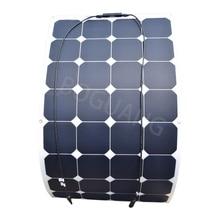 18 V 100 W 100 vatios flexible ETFE eficiente panel solar bote solar energía celda paneles solares para 12 V RV batería de carga de panou solar