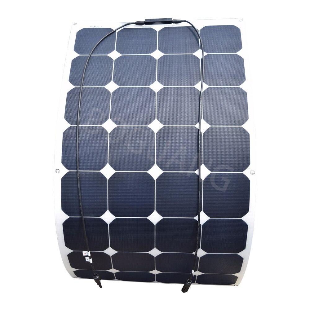 18 V 100 W 100 watt flexible ETFE efficace panneau solaire bateau soleil cellule de puissance panneaux solaires pour 12 V RV de charge batterie panou solaire
