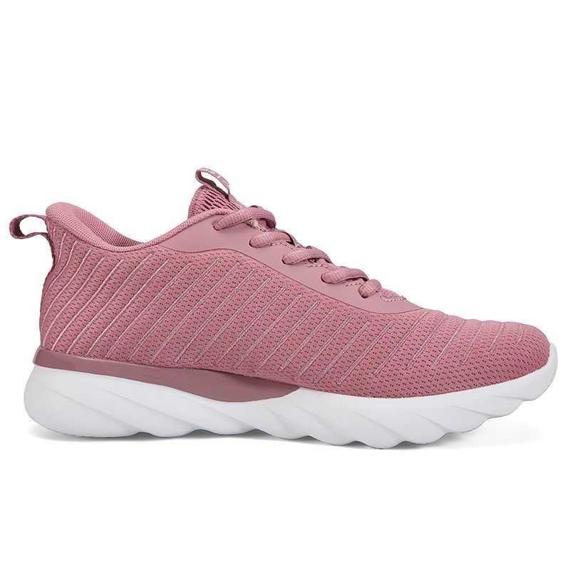 שיא נשים קל במיוחד נעלי ריצה לנשימה נעלי ספורט קל להגמיש קצף קל Outsole סניקרס אימון נעליים
