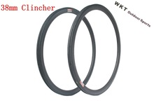 25 width 38mm 3K clincher/ tubular  carbon rim 700C carbon bicycle rim