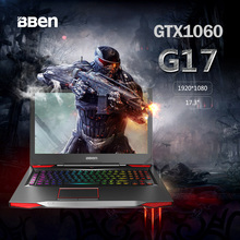 Bben gaming laptop GTX1060 17.3inch intel i7-7700HQ DDR4 8GB/16GB/32GB, 256G/512G SSD, 1TB/2TB HDD, pro windows10(China)