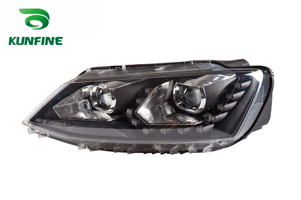 Pair of Car Headlight Assembly For VW JETTA /SAGIT 2012 Tuning Headlight Lamp with Bi-xenon Project Lens Daytime Running light right combination headlight assembly for lifan s4121200