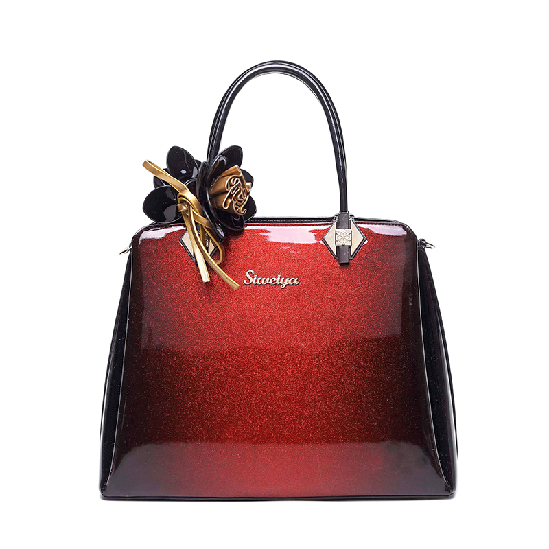2018 new luxury bag women bag designer high quality patent leather handbag ladies red we ...