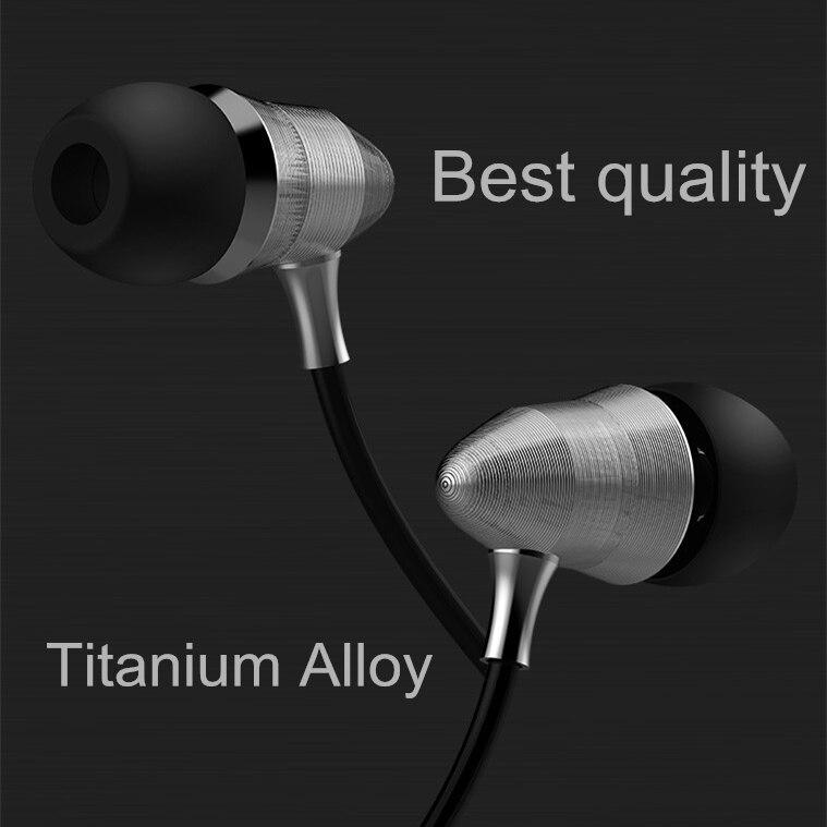 Ptm 3.5mm en la oreja los auriculares de metal forma de la bala de alta fidelida