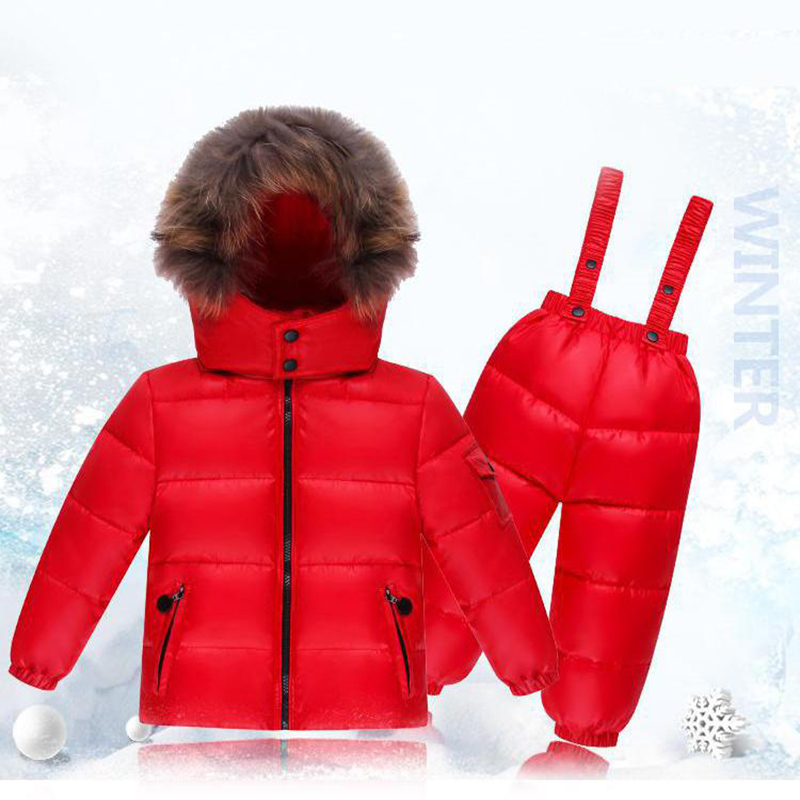 2018 New Baby Girls Winter Warm Clothes Tollder Boys Clothing Set 90% White Duck Down Suit Children Hoodie Thicken Down Jacket children s winter warm down jacket suit hooded 2 piece set girls clothing brand 1 3y baby boy fashion white duck down jacket set