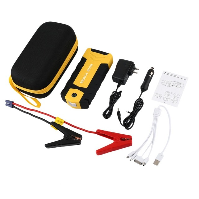 12V 82800mAh Dual USB Output Car Jump Starter Portable Car Charger With Flash Light Battery Power Bank Emergency Power Supply