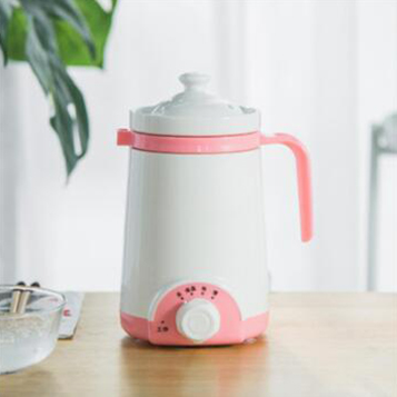 DMWD мини электрический термальный чайник керамический нагреватель воды чашка молочный котел лапша каша тушеный горшок детское питание Мультиварка чайник - Цвет: Розовый