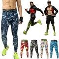 2017 Camuflagem Calças De Compressão para Os Homens de Alta Elástico Fino Magro Musculação Marca ClothingTrousers Leggings Plus Size Y500