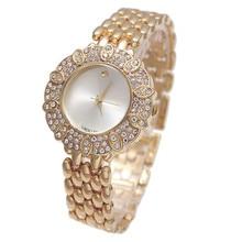 G & D relógios de Pulso de Quartzo das Mulheres de Ouro de Aço Inoxidável Reloje Mujer Ladys Pulseira Relógio de Luxo Dress Watch Relogio feminino