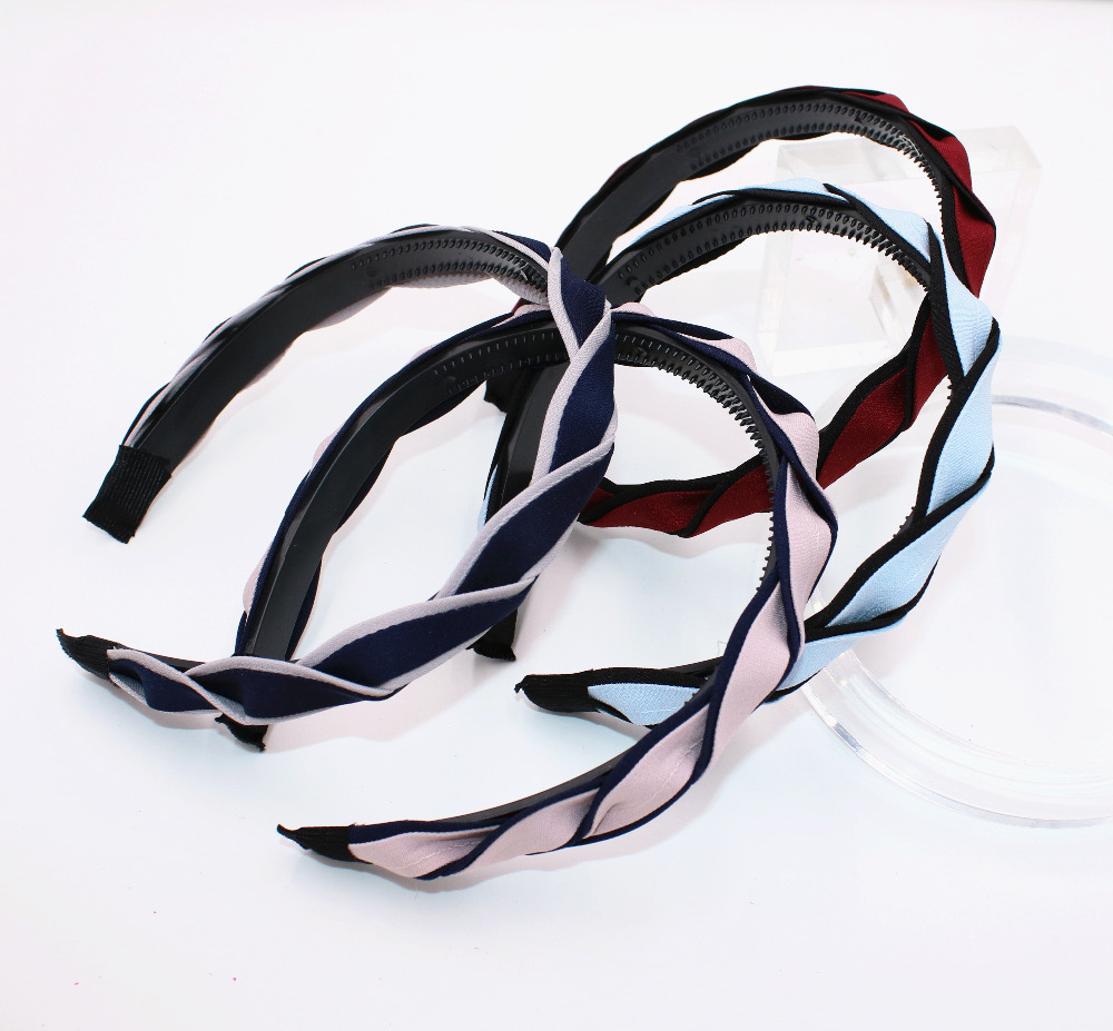 Simple Design Stripe 4 Colors Headbands Fashion Style Hairbands Ladies&girls Simple Style Kid Hair Hoops Hair Accessories Relieving Heat And Thirst. Girl's Hair Accessories