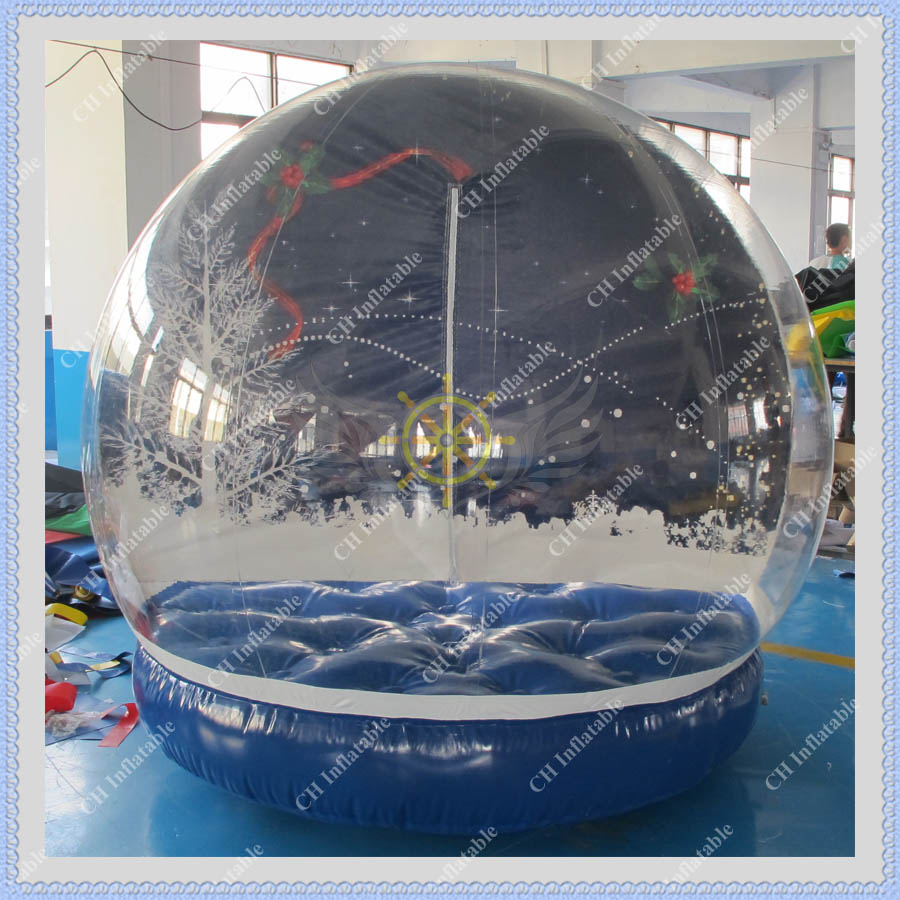 Online buy wholesale plastic snow globe from china plastic for Outdoor christmas globes