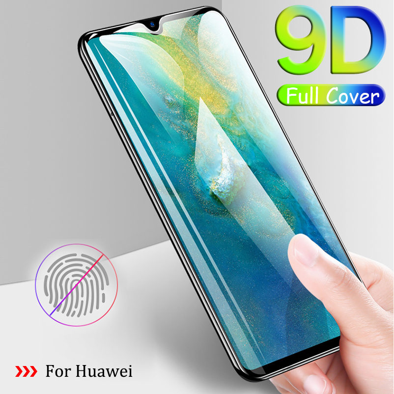 9D Protective Glass Full Glue For Huewei P10 P20 P Smart Plus Lite Pro 2019 Tempered Glass Film Screen Protector Cover Sklo(China)