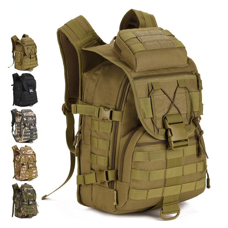 Unisex 40L Military Camouflage Backpack Multi-Function Waterproof Outdoor Bag Tactical Backpack Knapsack Trekking Travelling Bag tactical outdoor one shoulder knapsack bag coyote tan 28l