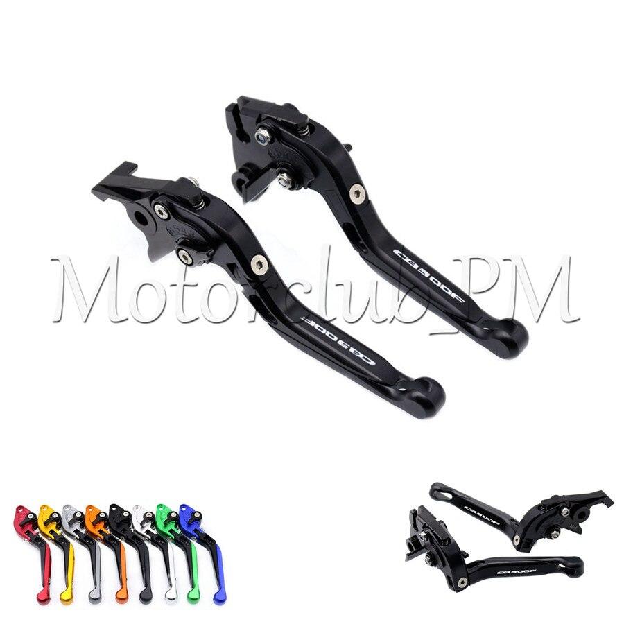 For Honda CB300F CB 300F CB300 F 2014 2015 2016 CNC Folding Extendable Brake Clutch Levers Black прокладки клапанной крышки honda vtr1000f