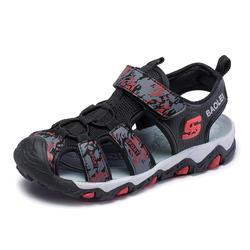 Новые летние мальчики сандалии Дышащие Детские пляжная обувь обертывание ног мягкая подошва модные спортивные Повседневное для ребенка