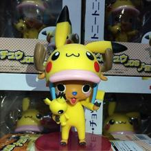 Anime Figure 10 CM One Piece Anime Tony Tony Chopper cos Pikachu PVC Action Figure Collection Model Doll Toy