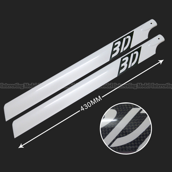 430mm Carbon Fiber Main Rotor Blade for Trex T-rex 500 Helicopter align t rex 250dfc main rotor head upgrade set h25119 trex 250 spare parts free track shipping
