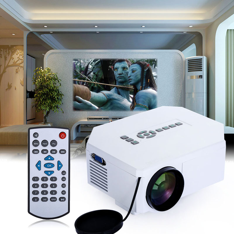 Portable  UC30 Projector Mini 1080P Home Theater Projector UC30 LED HD HDMI 3D Multimedia Player EU UK Plug mini portable multimedia player dvd player home theater projector led proyector