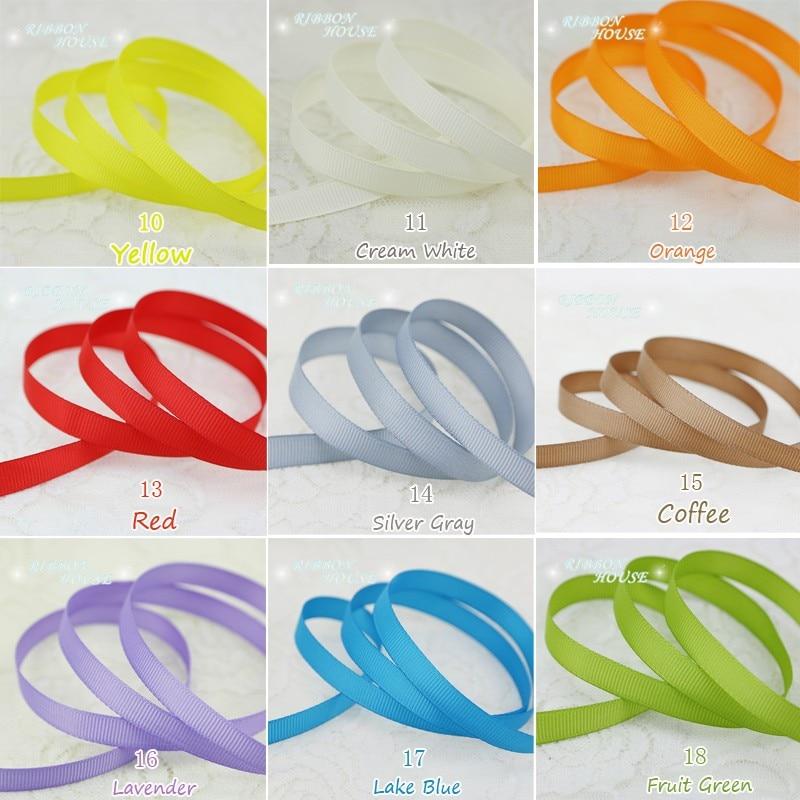 (10 meters/lot) Grosgrain Ribbon Wholesale gift wrap decoration Christmas ribbons (10/12/15/20/25/40/50MM)