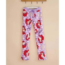 flannel mermaid bottoms kawaii pajama pants bottoms trousers women's sleeping sleep