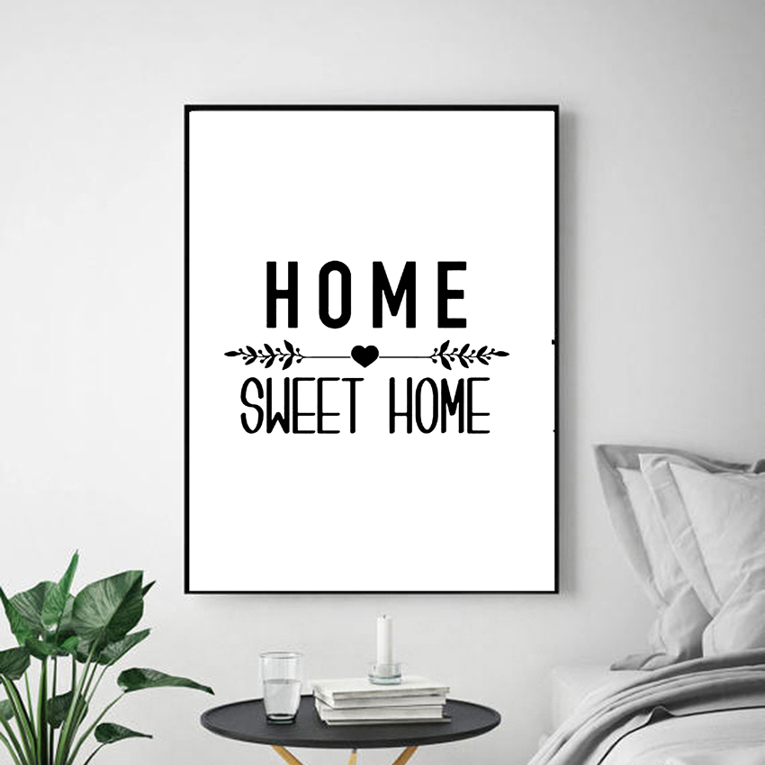 Fashion Gift Home Sweet Home Canvas Art Painting Poster For Living