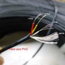 3m/9.6FT длинный экранирующий сигнал провод 28AWG 3 ядра эко ПВХ медь Двухканальный аудио звук щит кабель 300 в видео аудио кабели