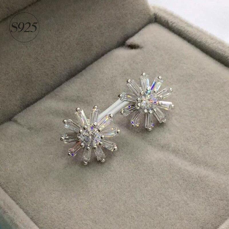 Jemmin High Quality Classic Sun-Flower Women Wedding Party Earrings 925 Sterling Silve Noble Fine Crystal Jewelry