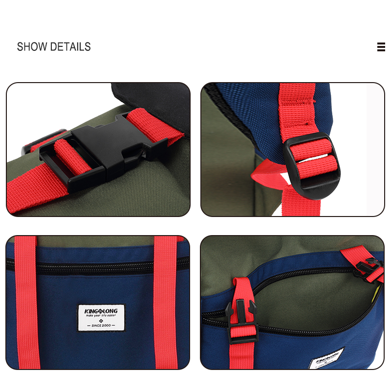 KINGSLONG Travel Men Waterproof Drawstring Bag America Backpack for Laptop Male Large Capacity Bag for Teenagers KLB1342-6 9