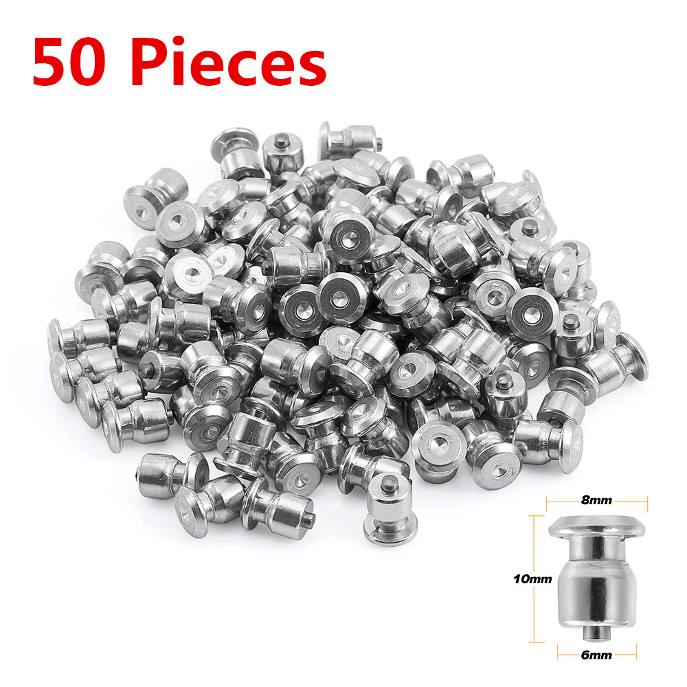 50pcs Winter Wheel Lugs Car Tires Studs Screw Snow Spikes Wheel Tyre Snow Chains Studs For Shoes ATV Car Motorcycle Tire 8x10mm
