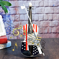 Retro Violin Model Creative Home Ornament Decoration Souvenir FP8