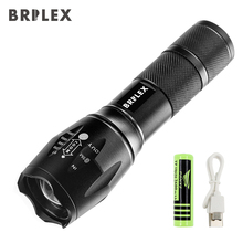 BRILEX Torches LED Tactical Flashlights High Lumen Portable Flashlight Waterproof Focal Adjustable Black Color.