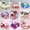 Mulheres por atacado vestido de casamento da noiva coroa de flores bebê floral garland crown mulheres cocar Estúdio Fotos de flores Acessórios Para o Cabelo